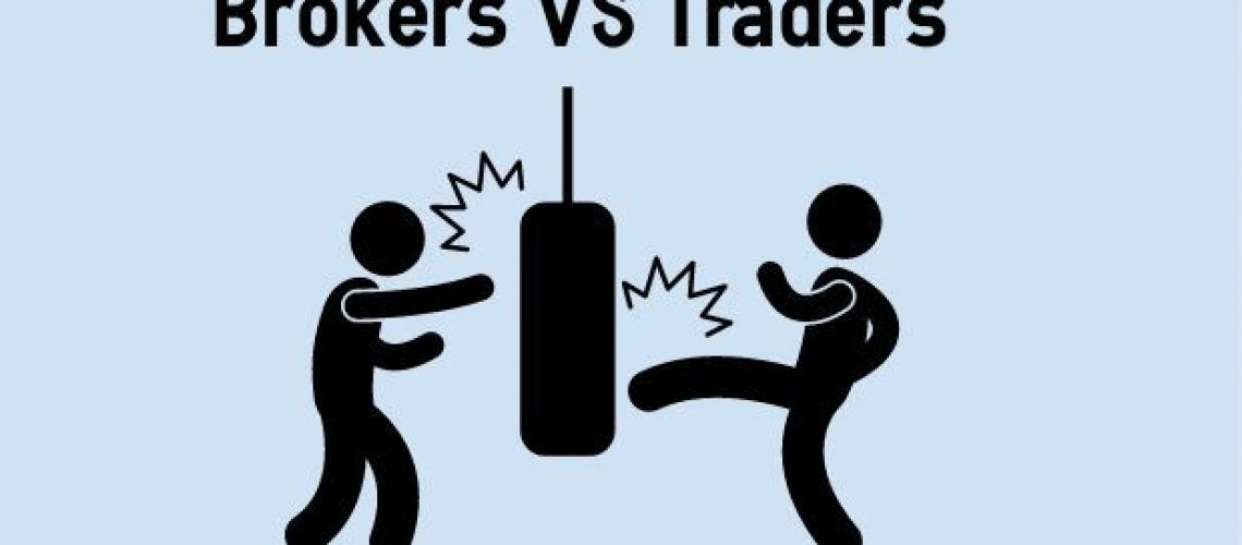 the difference between a trader and a borker